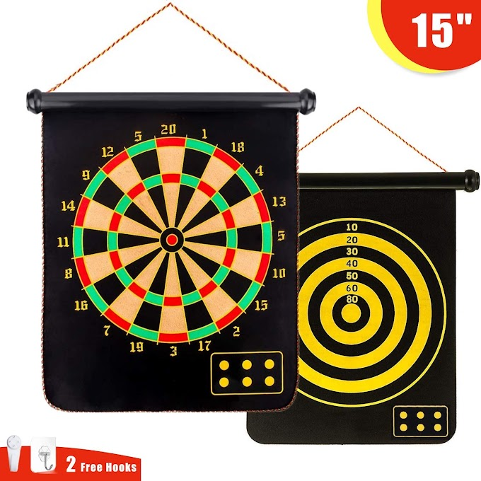 15 inch double-sided magnetic dart game set 50%off