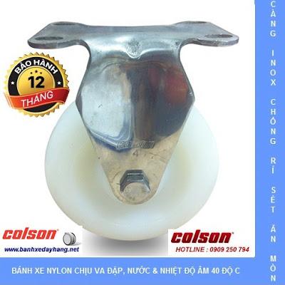 Bánh xe đẩy thủy sản càng inox 304 Colson Caster Mỹ tại Trà Vinh www.banhxepu.net