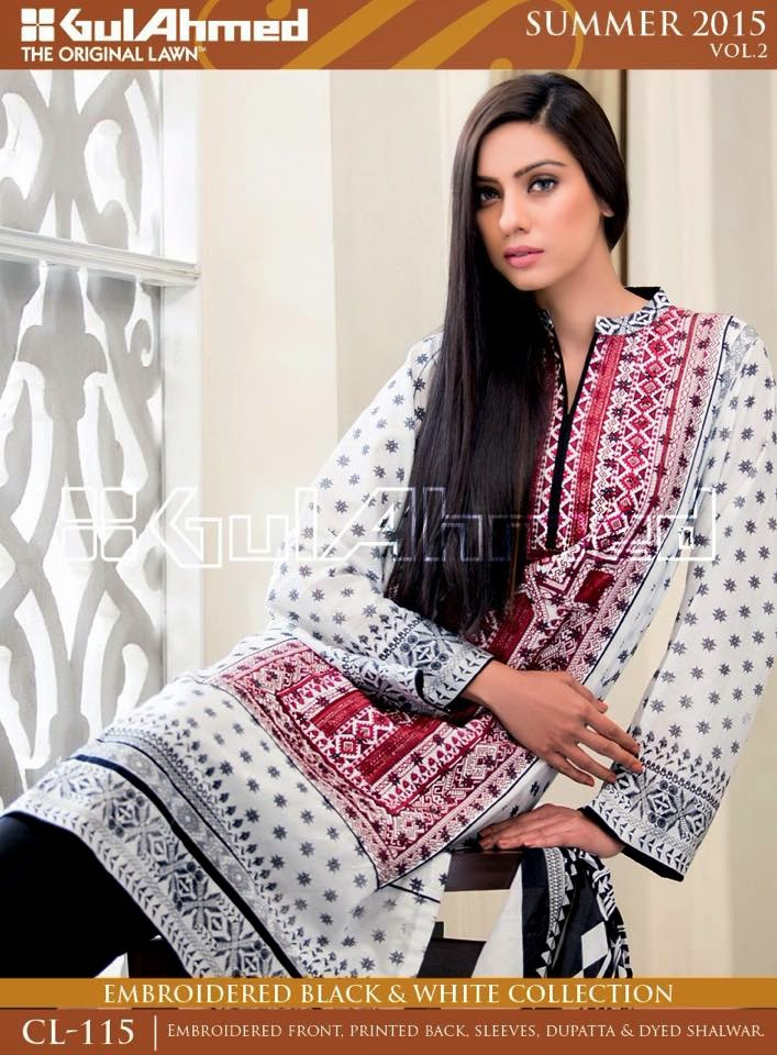 baf5d2135c GulAhmed Black & White Embroidered suits 4 designs set | www.pakisuits.in  call- 09899185586, 08470988886