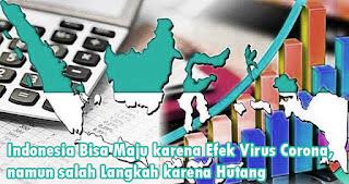 Indonesia Bisa Maju karena Efek Virus Corona, namun salah Langkah karena Hutang