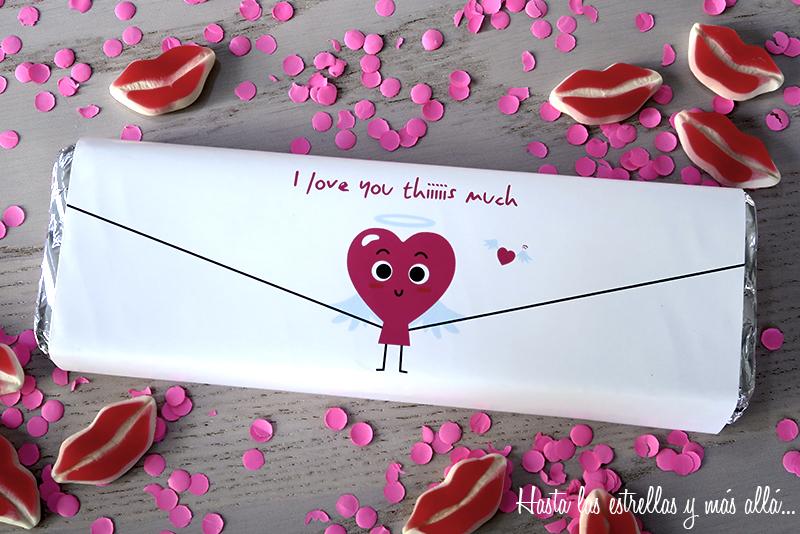 free printable valentine giant chocolate bar