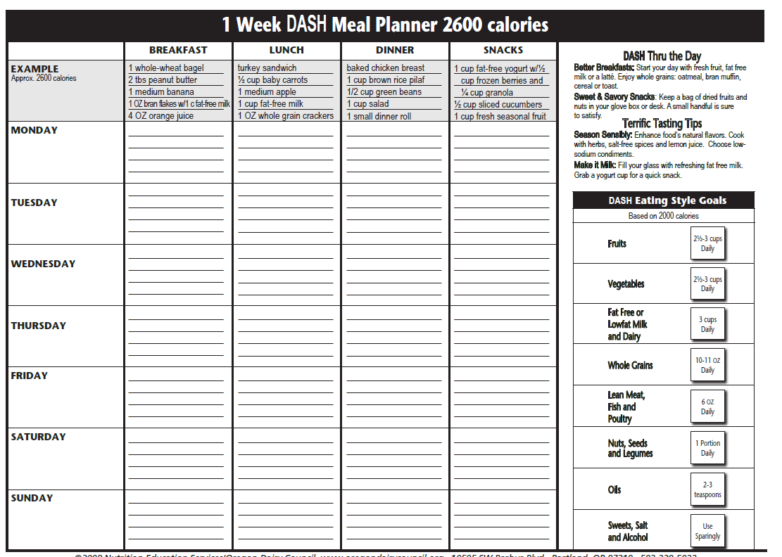 The Dasht Plan Dasht Meal Planner