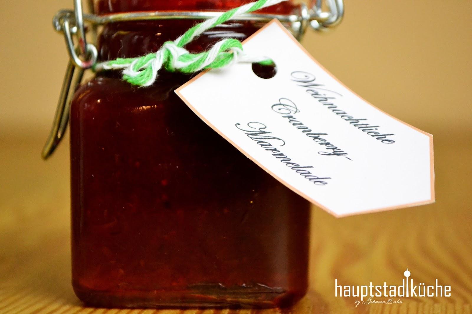Das Beste Zum Feste Weihnachtliche Cranberry Marmelade