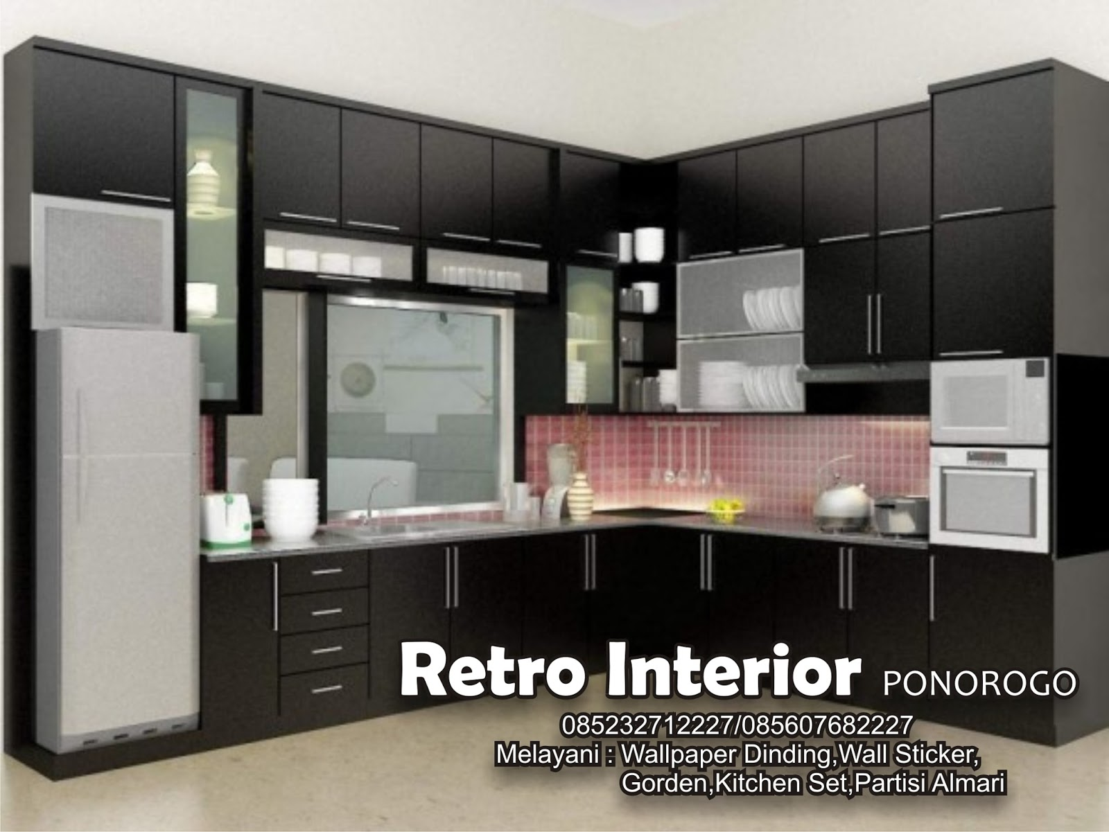 Toko Wallpaper Dinding Madiun 081335372227 085607682227 Kitchen Set