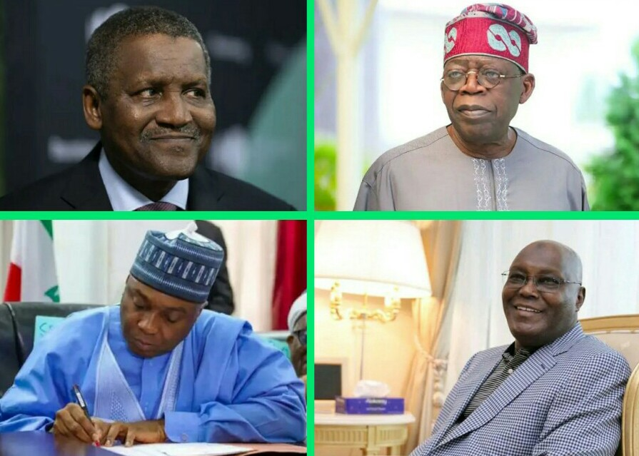 The differences are clear: Net worth of Aliko Dangote, Bola Tinubu, Atiku Abubakar and Bukola Saraki in 2021