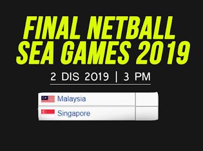 Live streaming Netball Malaysia vs Singapore Final (SEA GAMES) 2.12.2019