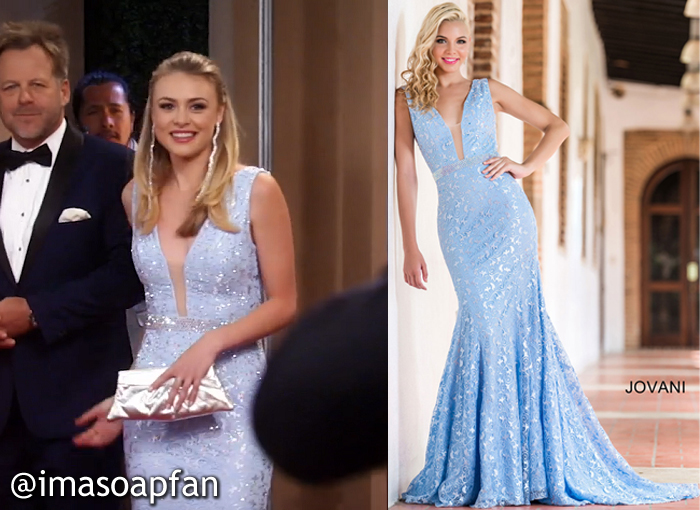 Kiki Jerome, Hayley Erin, Jovani, Light Blue Lace Gown, Nurses Ball, GH, General Hospital
