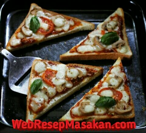 Pizza roti tawar, Resep pizza roti tawar, pizaa panggang tanpa oven,