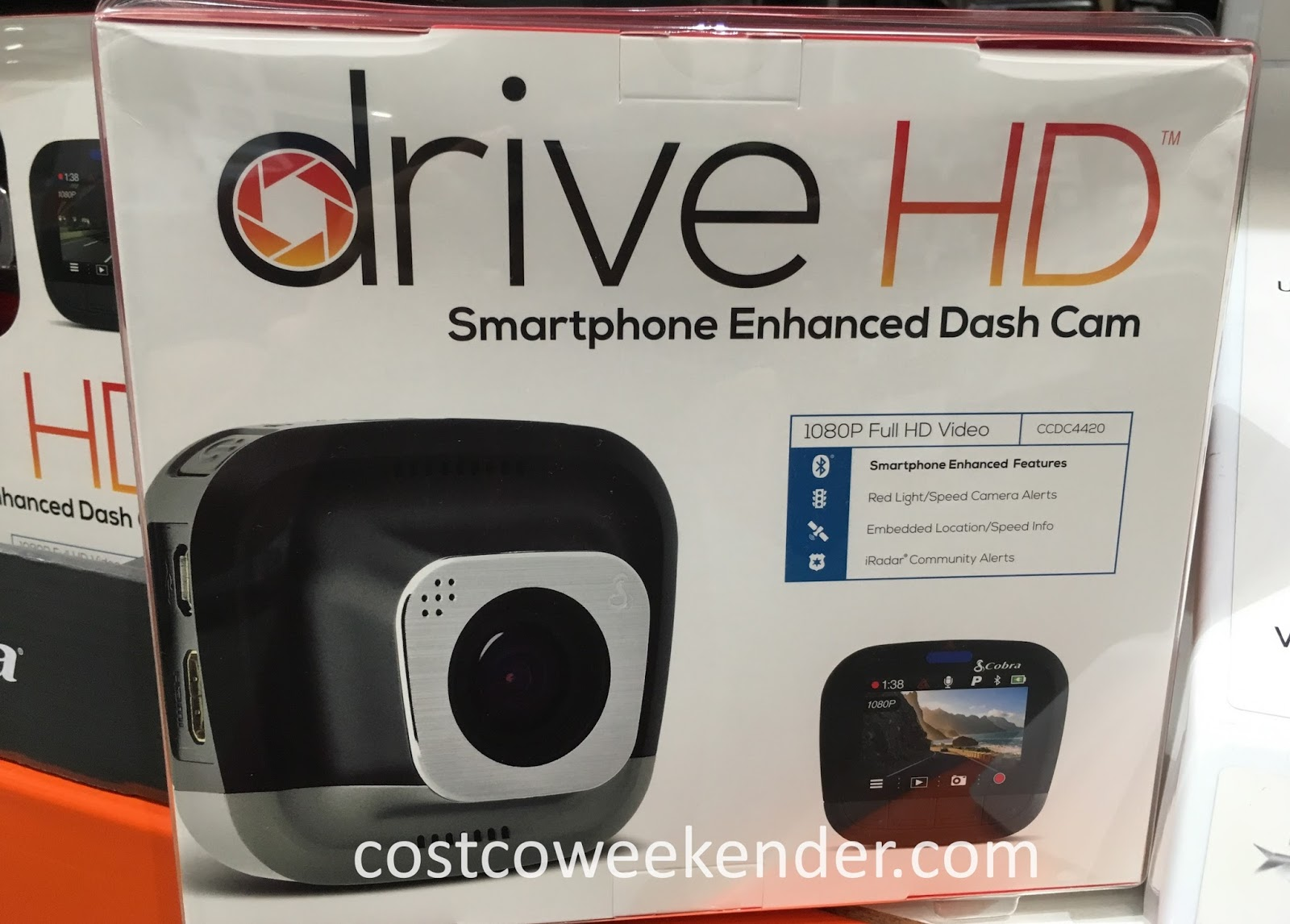 Record your next trip with the Cobra Drive HD Smartphone Enhanced Dash Cam