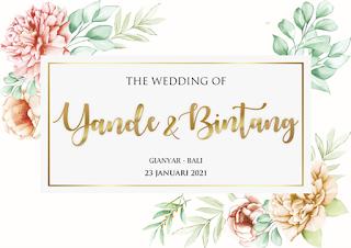 23012021 THE WEDDING OF YANDE AND BINTANG AT GIANYAR BALI