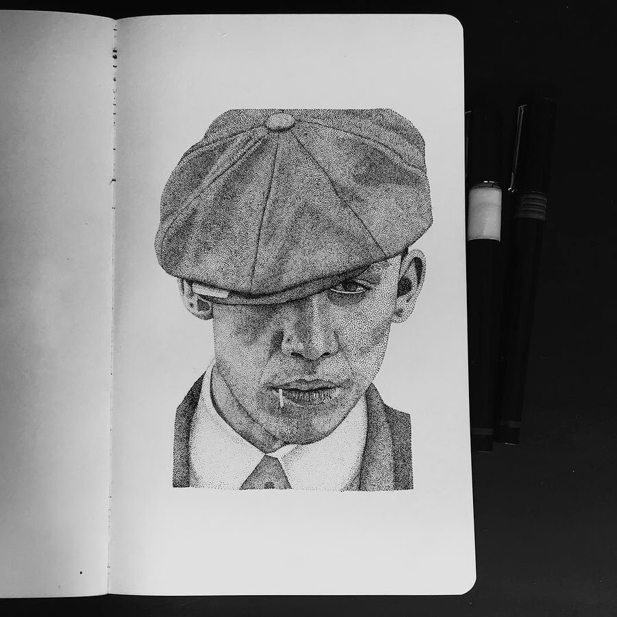 05-Peaky-Blinders-Paige-Bates-Stippling-Drawings-www-designstack-co