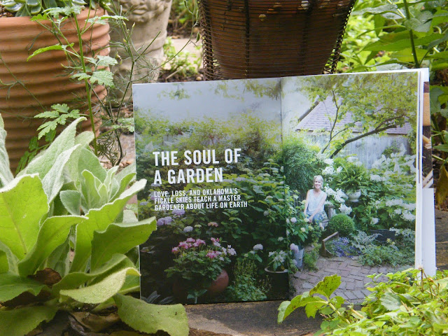 Cover page of The Soul of a Garden Article by Linda Vater in Summer TERRITORY OKC Magazine next to a tuft of mullein.