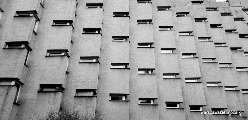 Warszawa Warsaw blok apartamentowiec PRL modernizm architektura warszawskie podwórka 1983 serial