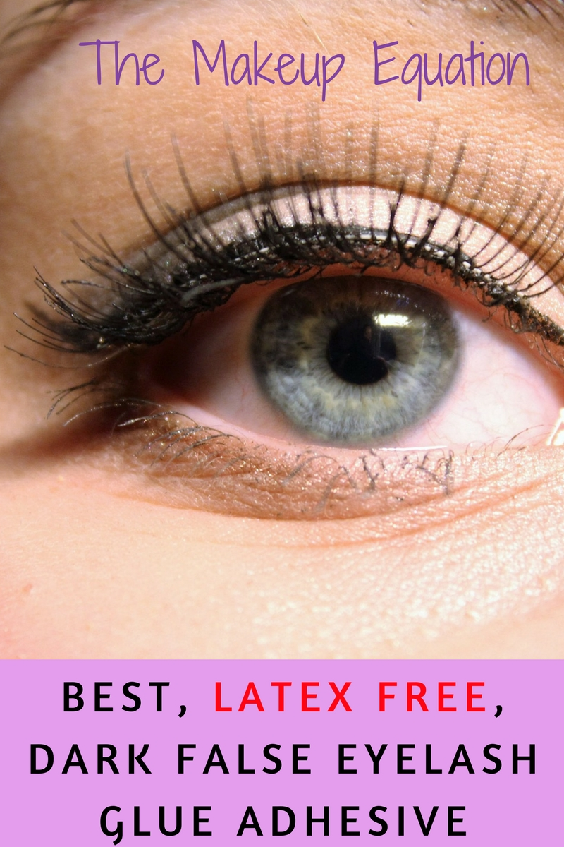 best eyelash glue. best latex free dark false eyelash glue adhesive