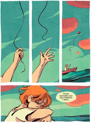 Páginas de ejemplo del cómic Espuma