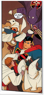 Superman contra el Klan de Gene Luen Yan y Guriiru comic viñeta