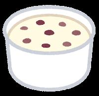 カップのアイスクリームのイラスト(ラムレーズン)
