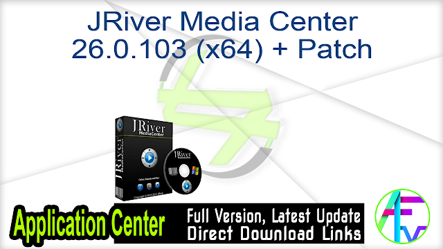JRiver Media Center 26.0.103 (x64) + Patch