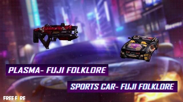 skin senjata plasma dan skin sport car