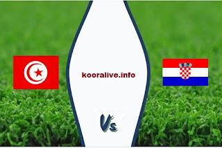 مشاهدة مباراة كرواتيا وتونس بث مباشر 11-6-2019 مباراة ودية