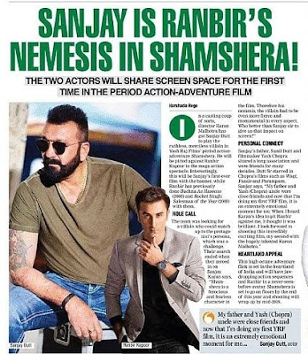 Shamshera Action/Adventure film 2020