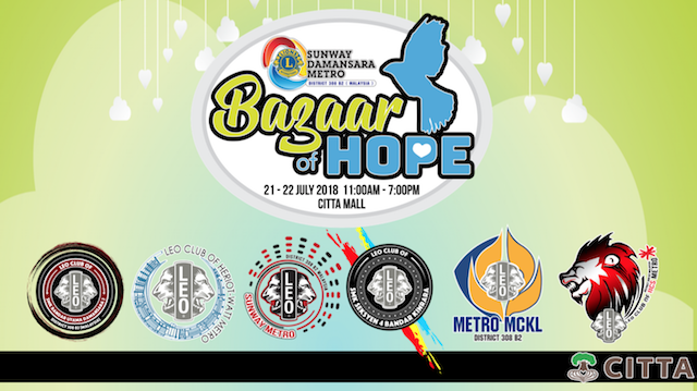 Bazaar of Hope @ CITTA Mall this Weekend!