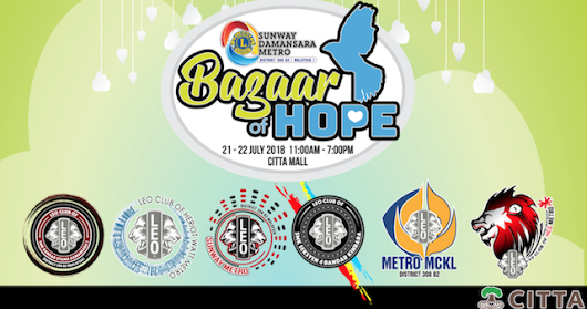 Bazaar of Hope @ CITTA Mall Happening This Weekend!