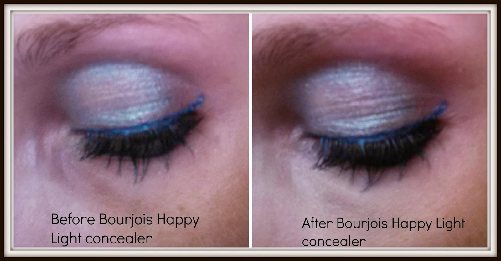 bourjois happy light concealer before and after