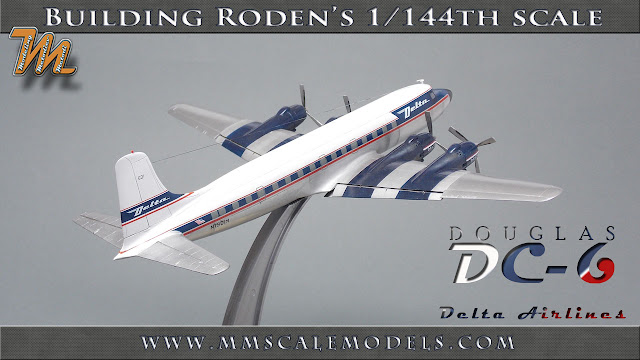 Delta Airlines Douglas DC-6  scale model