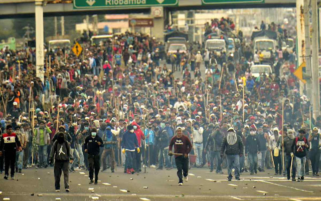 Brisita bolivariana devastou Quito.