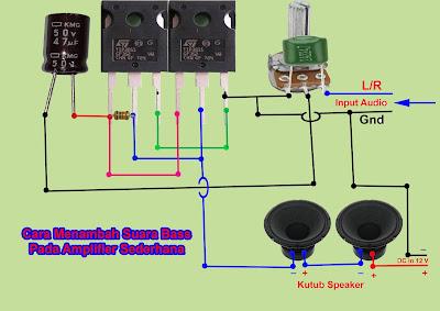 Menambah Suara Bass Pada Rangkaian Amplifier Sederhana