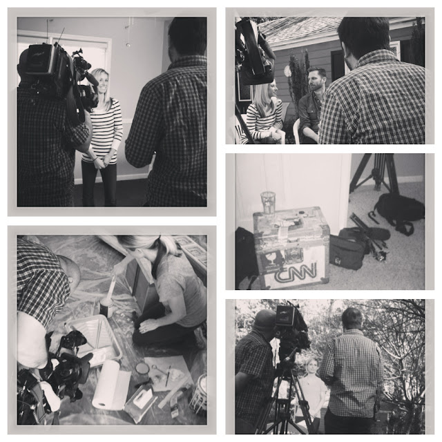Filming a room makeover for HLN