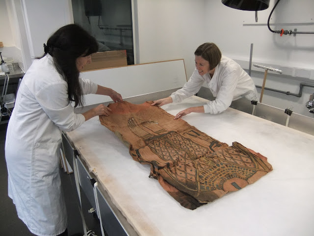2,000 year old mummy shroud on display at National Museums Scotland