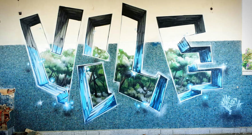 Graffiti Artist Paints On Walls And Makes Them Transparent