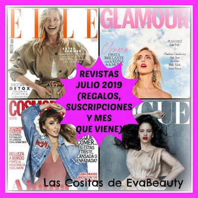 Revistas Julio 2019 (Regalos, Suscripciones y mes que viene)