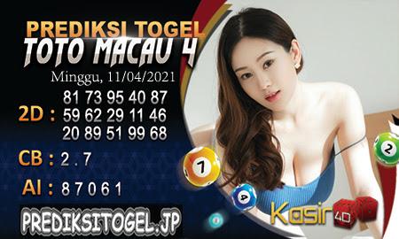 Prediksi Kasir4D Togel Macau Minggu 11 April 2021