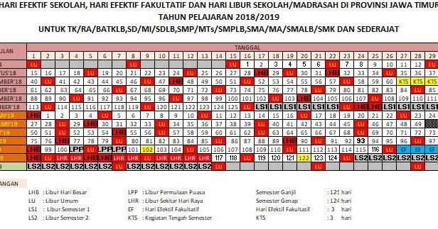 Kalender Pendidikan 2018 2019 Semua Provinsi Portal Info
