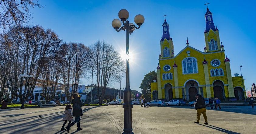 Castro, capital of Chiloe Island.