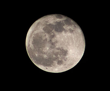 Just passed full moon image with DSLR, 300 mm, 1/4000 second (Source: Palmia Observatory)
