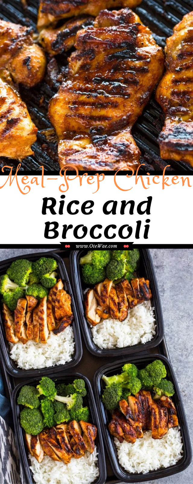 Meal-Prep Chicken Rice and Broccoli