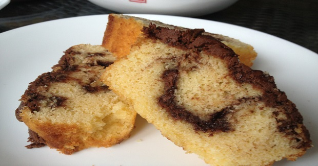 Double Swirled Nutella Pound Cake Recipe