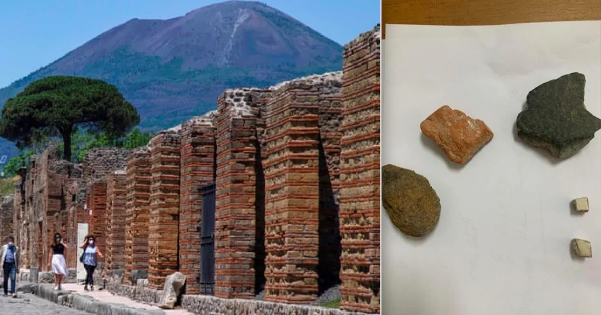 Canadian Tourist Returns 'Cursed' Items She Stole From Pompeii After Experiencing 15 Years Of Bad Luck