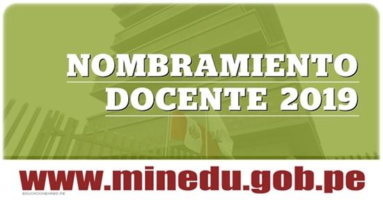 RESULTADOS MINEDU Examen de Nombramiento Docente 2019