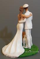 statuetta sposi romantiche cake topper speciali marina militare lombardia orme magiche