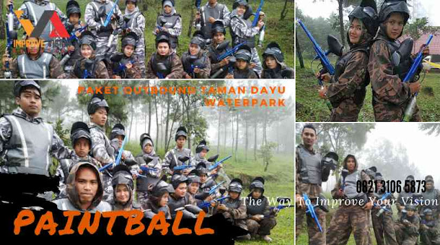 paket outbound taman dayu waterpark paintball wisata outbound pacet improve vision