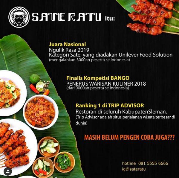 Sate Kanak Jogja, Kuliner Sate Juara 1 Nasional Asal Jogja - Jogjalagi.com