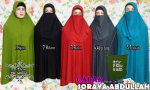 jilbab syar'i model cadar jumbo soraya