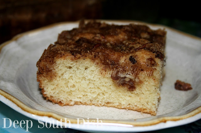 Old Fashioned Coffee Cake. A very simple, but classic and tender old fashioned coffee cake, made with brown sugar, cinnamon and pecans, comes together quick and easy. Serve with a drizzle of cream, or a scoop of vanilla ice cream & a piping hot cup of coffee.