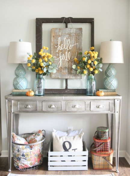 CHARMING DIY ENTRYWAY TABLE DESIGNS IDEAS
