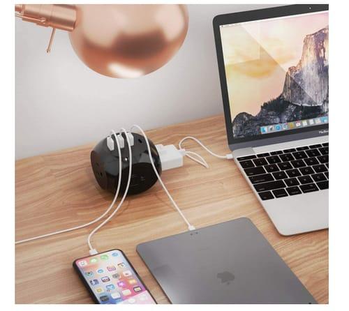 Ceptics Power Strip Dual USB + USB-C 3 USA Outlets
